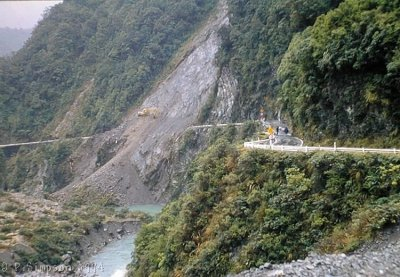 Otira Gorge 1994 earthquake damage