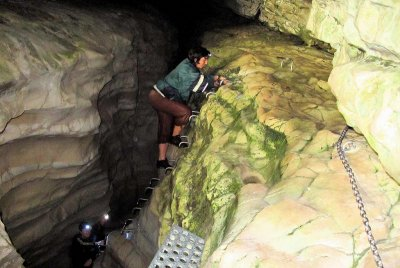 Cave Stream - Upper entrance climb